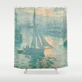 Claude Monet Marine Sunrise 1873 Shower Curtain