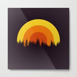 summer mountain Metal Print