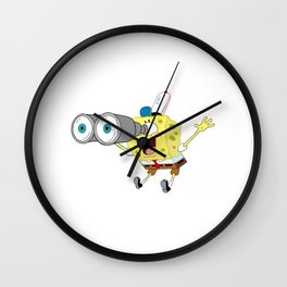 Spongebob's Binoculars Wall Clock