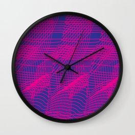 Glitchy Pink Wall Clock
