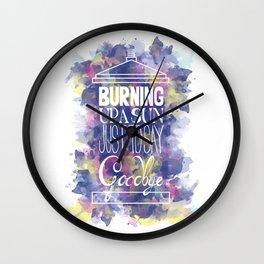 Burning Up A Sun  Wall Clock