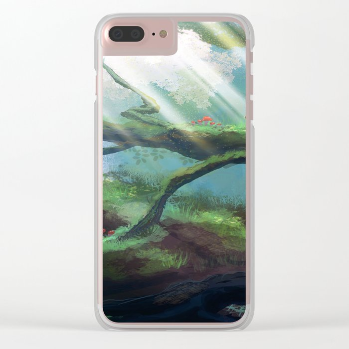 In The Treetops Clear iPhone Case