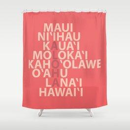Hawaiian Islands Coral Shower Curtain