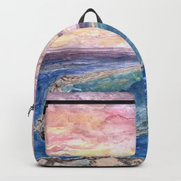 Great Barrier Reef at sunset - aerial view - coral reef - wall art Backpack