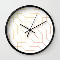 depeche mode Wall Clocks featuring Mode Trois by blacknote