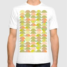 Geometric Juice MEDIUM White Mens Fitted Tee