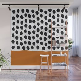 Classy Handpainted Polka Dots with Autumn Maple Wall Mural
