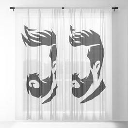 Barber Silhouette 2 Sheer Curtain