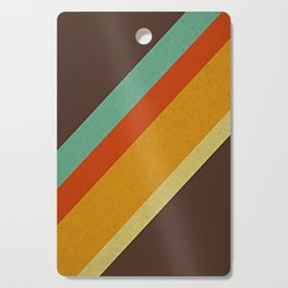 Retro 70s Color Palette Cutting Board