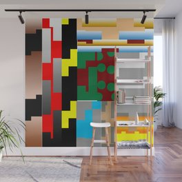 Pieces of fabrics Wall Mural