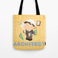 architect Tote Bags featuring Architect by Alapapaju