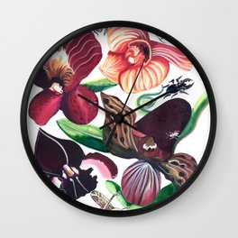 Orchid Cafe Wall Clock