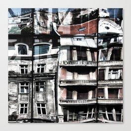 Reflection of Buildings on Buldings in Belgrade Canvas Print