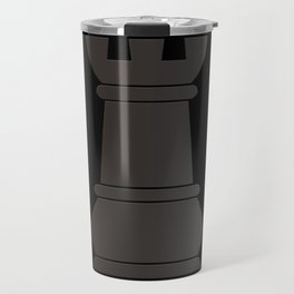 Black rock chess piece Travel Mug