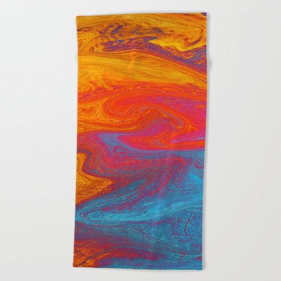Marbled IX Beach Towel