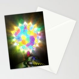 ELECTRIC STAINED GLASS Stationery Cards