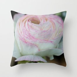 Soft pink flower Throw Pillow