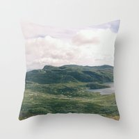 norway Throw Pillows featuring Norway Panorama by see BOLD