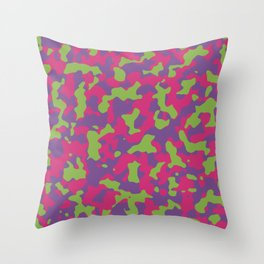 Camouflage Floral Throw Pillow