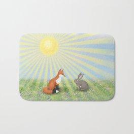 fox and bunny Bath Mat