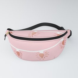 Rose gold Christmas lights Fanny Pack