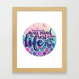 Correct Your Mind Framed Art Print