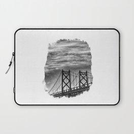 Iowa-Illinois Memorial Bridge - Close Up Laptop Sleeve