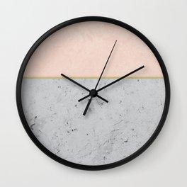 Soft Peach Meets Light Gray Concrete #1 #decor #art #society6 Wall Clock