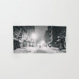 Alone in a Blizzard - New York City Hand & Bath Towel