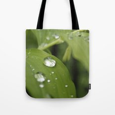 Green Leaves After Rain Tote Bag