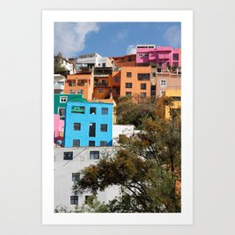 Gunajuato colorful buildings Art Print