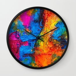 Expressionism Paster Painting Ultra HD Wall Clock
