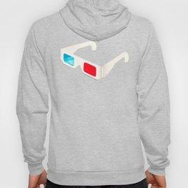 3D Glasses Pattern - Black Hoody