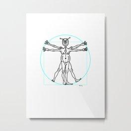 Pon da Vinci Metal Print