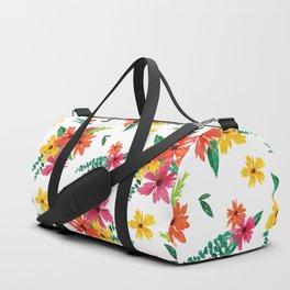 Flower Pattern # 7 Duffle Bag