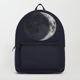 Waxing Crescent Moon on Navy - English Backpack
