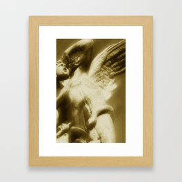 Fallen Angel Vertical Gold Framed Art Print