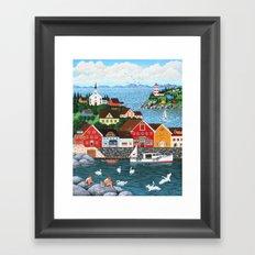 Swan's Cove Framed Art Print