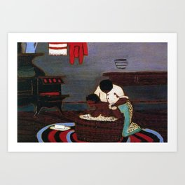 African American Masterpiece 'Saturday Night Bath' by Horace Pippin Art Print
