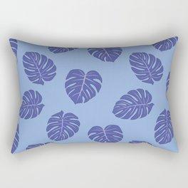 Monstera trendy - purple Rectangular Pillow