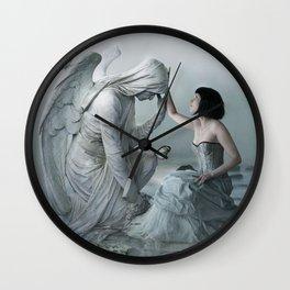 Comforting Angels Wall Clock