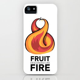 #7 Fruit Descended like fire iPhone Case