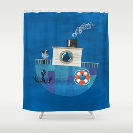 Lonely Sailor Shower Curtain