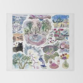 Random Access Paintings Throw Blanket