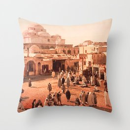 Vintage Babylon photograph Throw Pillow