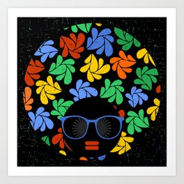Afro Diva : Colorful Art Print