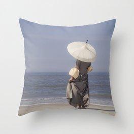 White Parasol II Throw Pillow
