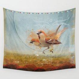 Kathmandu Cinnamon Sparrows Wall Tapestry