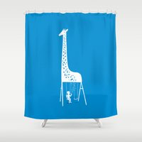 ilovedoodle Shower Curtains featuring My playground by I Love Doodle