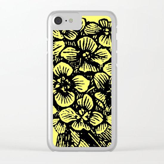 Yellow Hydrangea Clear iPhone Case